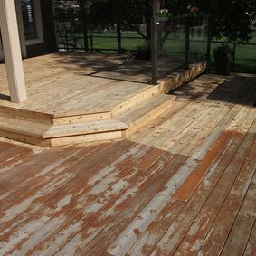 Stripping painted deck