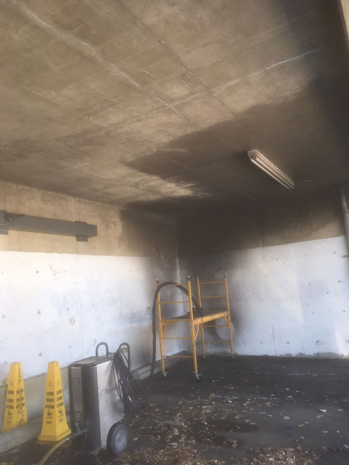 Parkade fire and smoke removal