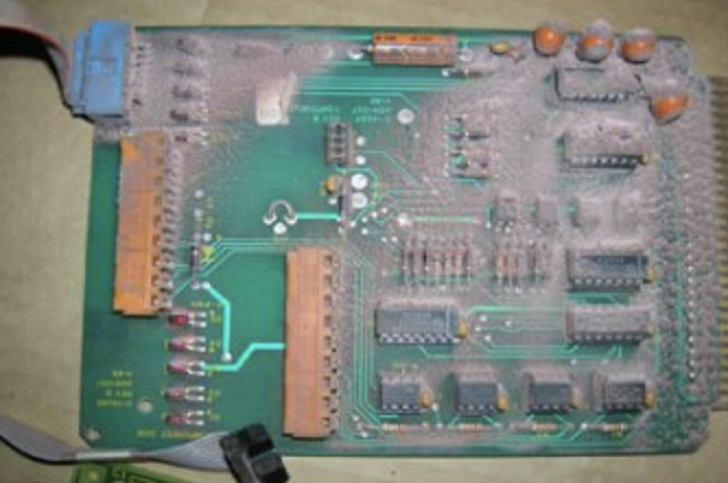 Electric circuit board before